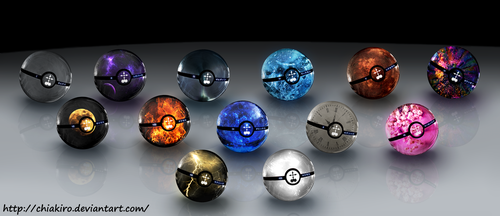 The Pokeballs of The Organization XIII by Chiakiro