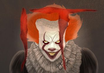 Pennywise the dancing clown  fanart by SchlotzArt