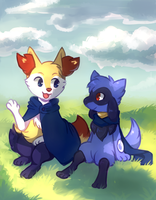 Art Trade - Tayo and Xael by Flavia-Elric