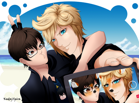 Selfie with Prompto by Yami-Sohma