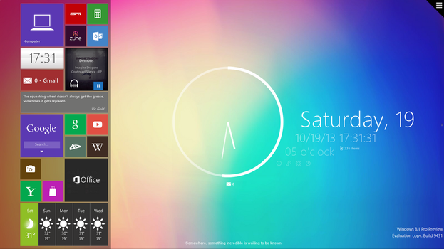 Rainmeter with Omnimo 6 - Shot 1 by LuminaryDragon