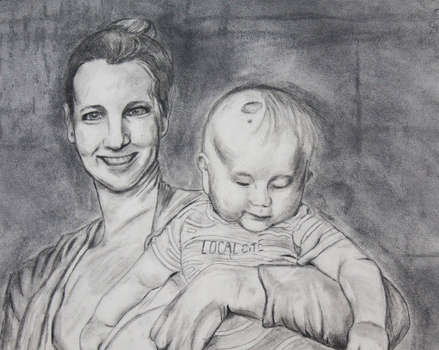 Mom and Baby:  Drawing Project by LuminaMaridia