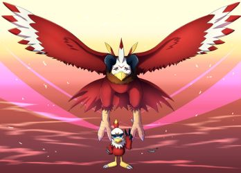 Hawkmon and Aquilamon by Deyvidson
