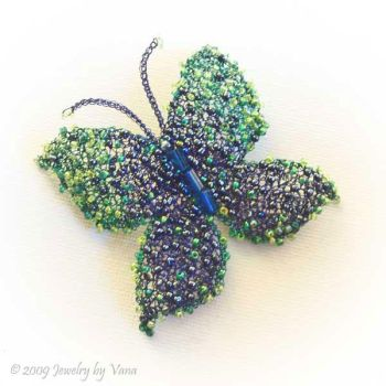 Colorfull buterfly brooch by VanaJewelry