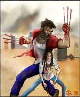 Wolverine - Logan and Laura by gkgaines
