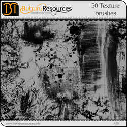 50 Free Texture brushes by BuburuResources