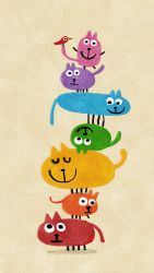 Stack of cats by nicolas-gouny-art