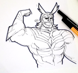 DSC 2018-06-04 All Might by theEyZmaster