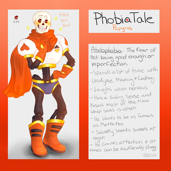 Undertale AU: Phobiatale: Papyrus by Moona-chann