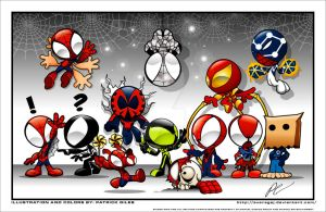 The Many Faces of Spider-Man by GIG-Arts