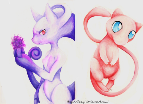 The earliest -Mega Mewtwo Y and Mew- by Craqui