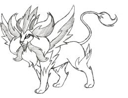 Project Fakemon: Mega Pyroar (Male) by XXD17