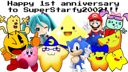My first anniversary on DA by SuperStarfy2002