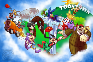 Welcome to the Toontown Party by Piranhartist