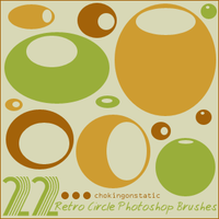 retro circle brushes by chokingonstatic