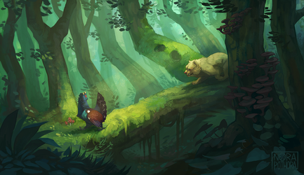 Deep in the wood by norapotwora
