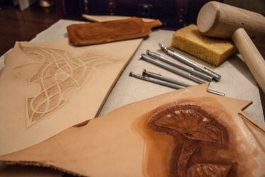 Leather and tools by jlpicard1701e