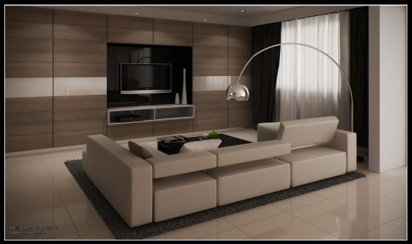 LIVING ROOM, Singapore by RullyArt