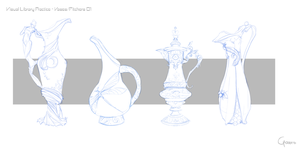 Visual library practice - Vases/Pitchers 01 by RobertoGatto