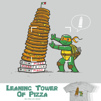 Leaning Tower of Pizza - tee by InfinityWave