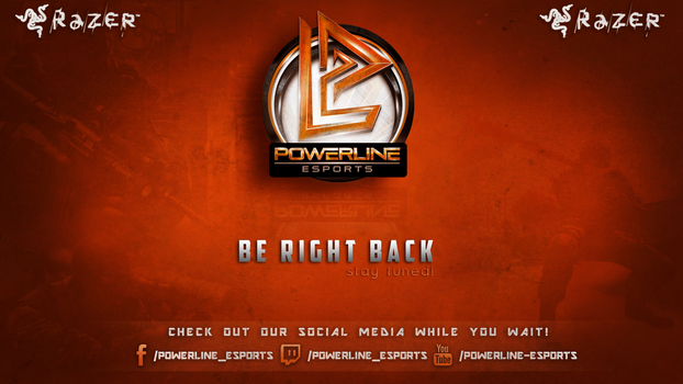 Twitch.tv BRB wallpaper - Powerline Esports by sweexdesigns