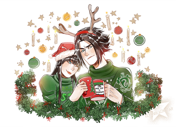 CHRISTMAS COMM - Mafer and Halford by ElyonBlackStar
