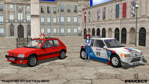 MMD Vehicle DL Series: Peugeot 205 by MichaelOKeefe1991
