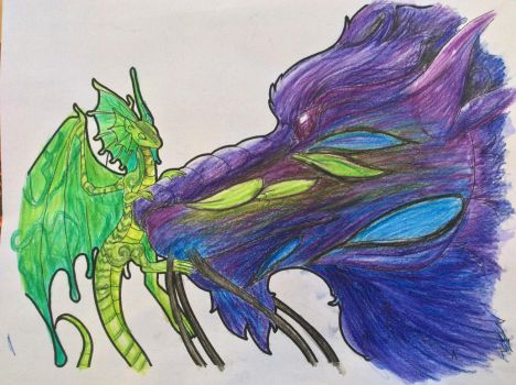 Big and Small Coloured Lineart by Quetzal-Queen