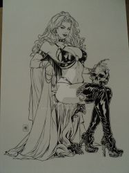 Lady Death by Mike Krome by bedlamnac