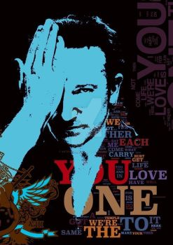 ONE - u2 the song - collage by ArtByKostasTsipos