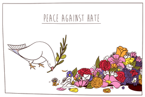 Peace against hate by Hellypse