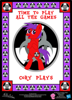 Cory Plays OC Poster by StryKariSPEEDER