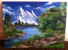 Mountain Painting by sanitrance