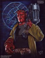 BIG RED - Hellboy by The-Art-of-Ravenwolf