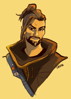 Hanzo's haircut by bylacey