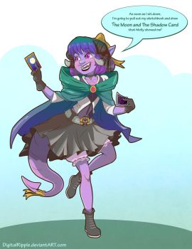 CriticalROLE Jester Moon and Shadow by DigitalRipple