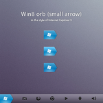 Win8 orb 'small arrow' by AlexandrePh