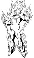 vegeta super saiyan by moncho-m89