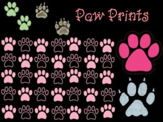 Paw Print Brush Set by Tink-ling