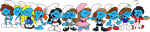 Tiny Smurfs by TheBluBerry