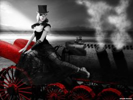 Sin City Steampunk Dragster by conservancy