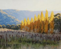 Afternoon Autumn Light Painting by artsaus