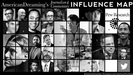 Journalism and Commentary Influence Map by AmericanDreaming