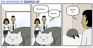 The Adventures of Business Cat - Contemplation by tomfonder