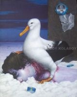 Self Portrait With Albatross by kolaboy