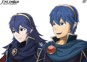 Marth and Lucina by BrianGH