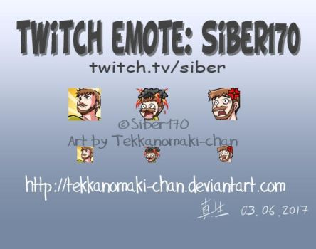 Commission: Twitch Emotes for Siber170 by TekkanoMaki-chan