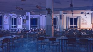 Canteen inside night by arsenixc