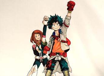 Deku and Ochako by IlCalcolatore