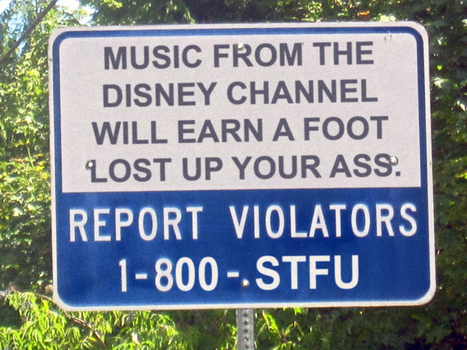No Disney Channel Music Sign by FearOfTheBlackWolf